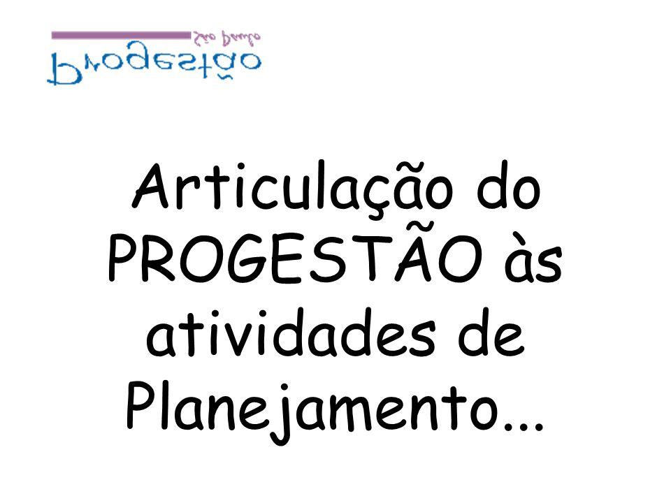 Articulação do PROGESTÃO às atividades de Planejamento...