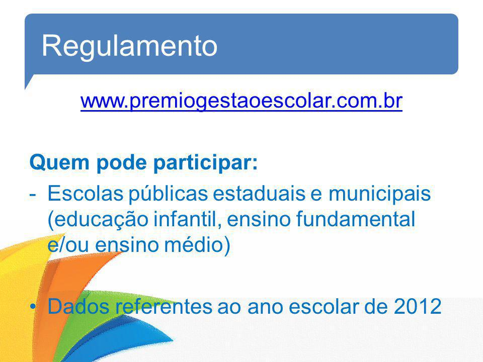 Regulamento www.premiogestaoescolar.com.br Quem pode participar: