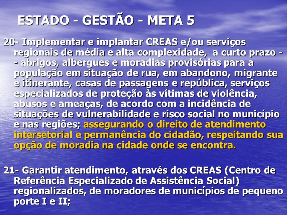 ESTADO - GESTÃO - META 5