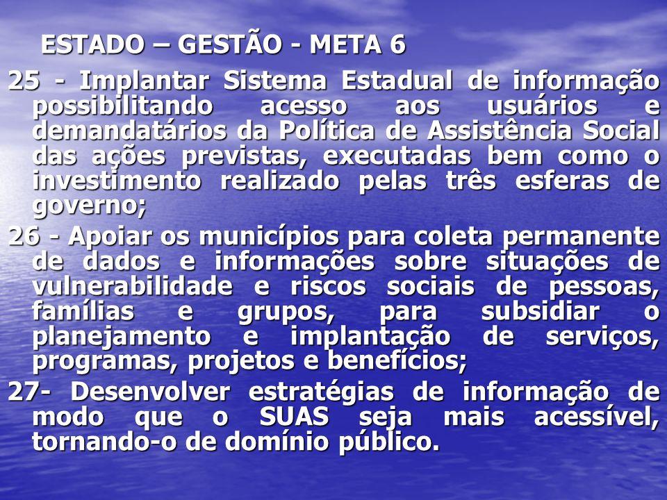 ESTADO – GESTÃO - META 6