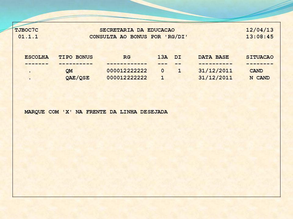TJBOC7C SECRETARIA DA EDUCACAO 12/04/13