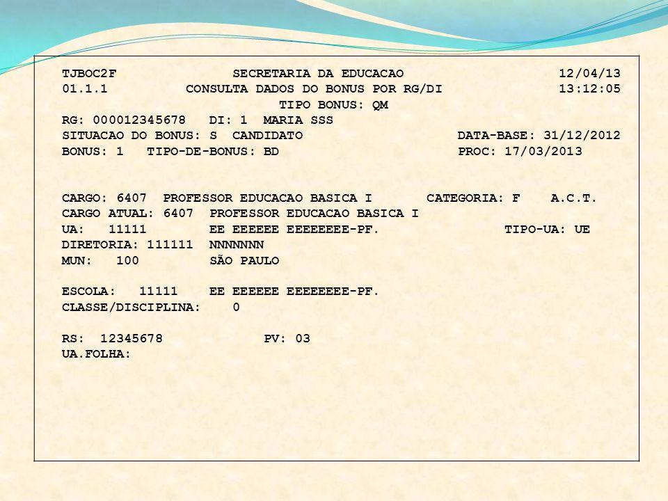 TJBOC2F SECRETARIA DA EDUCACAO 12/04/13