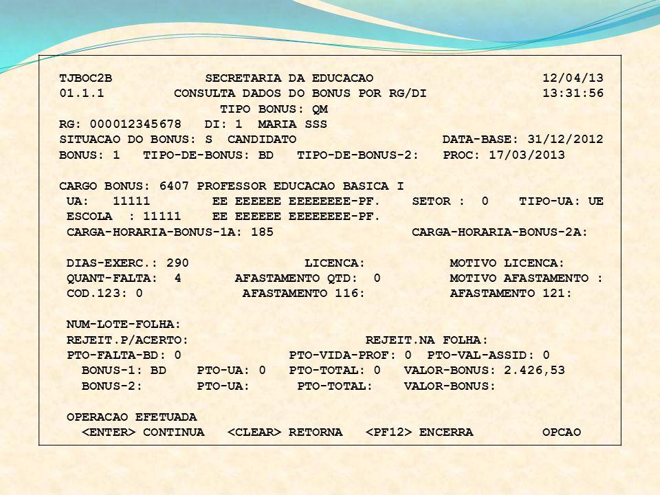 TJBOC2B SECRETARIA DA EDUCACAO 12/04/13
