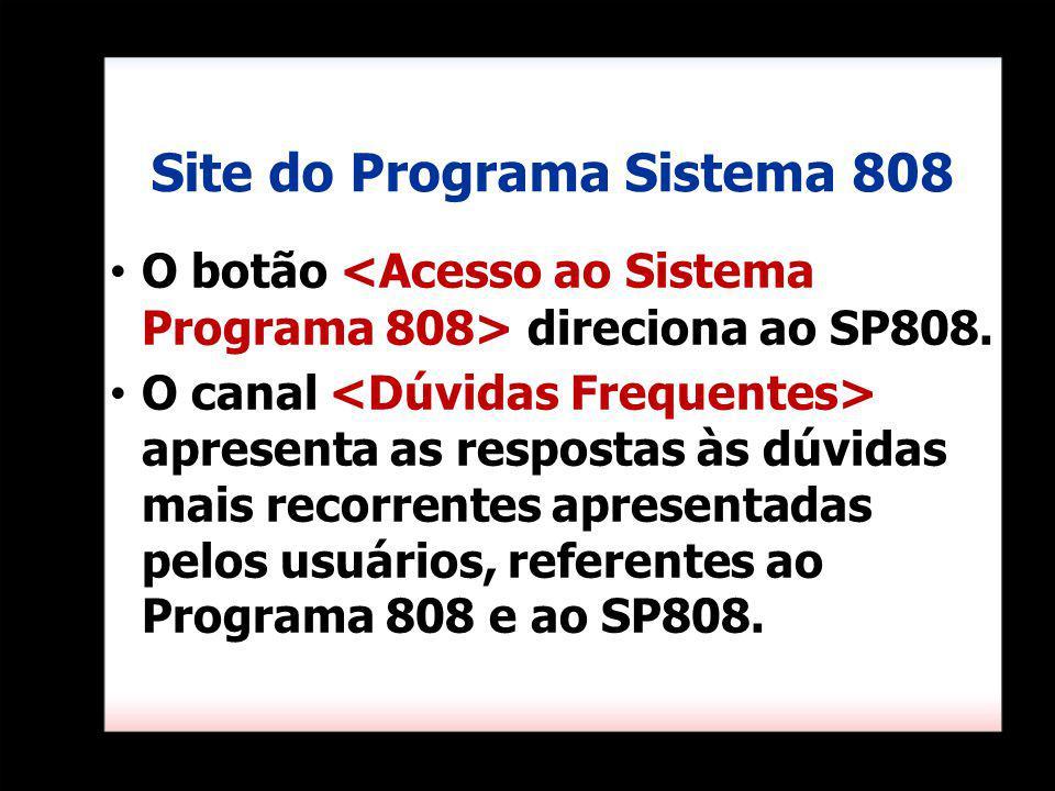 Site do Programa Sistema 808