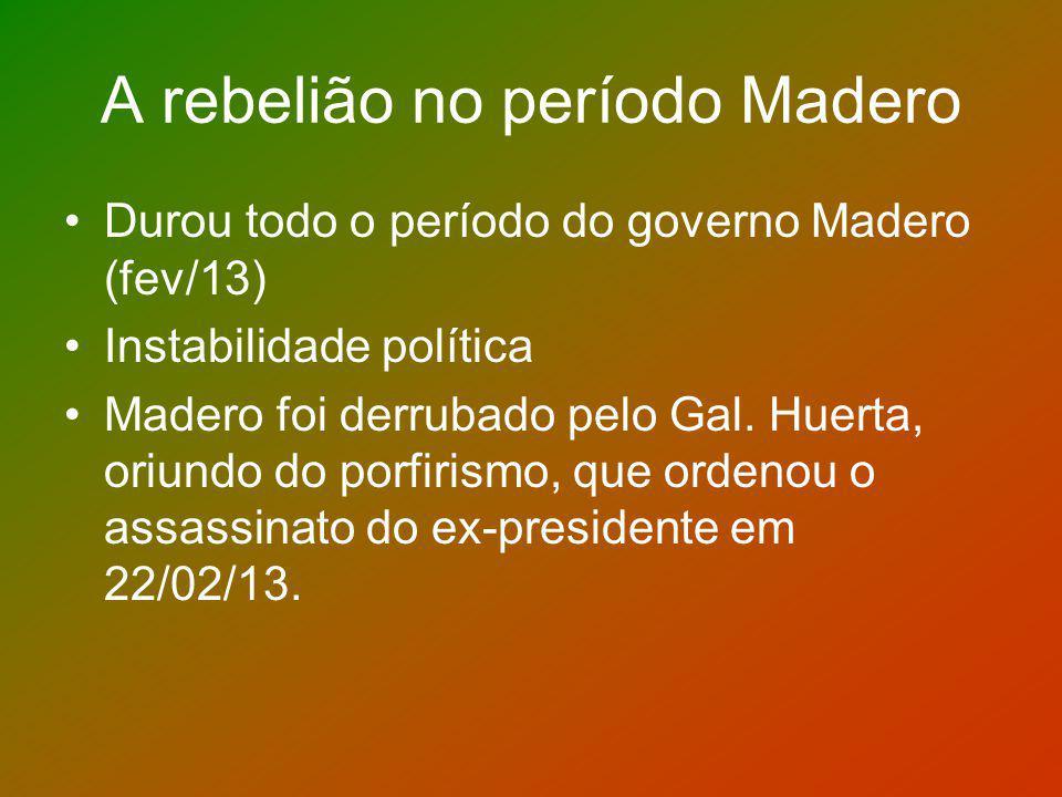 A rebelião no período Madero