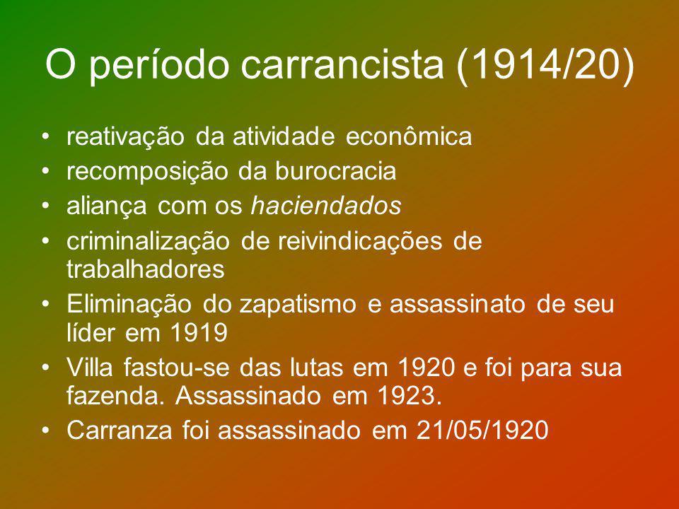 O período carrancista (1914/20)