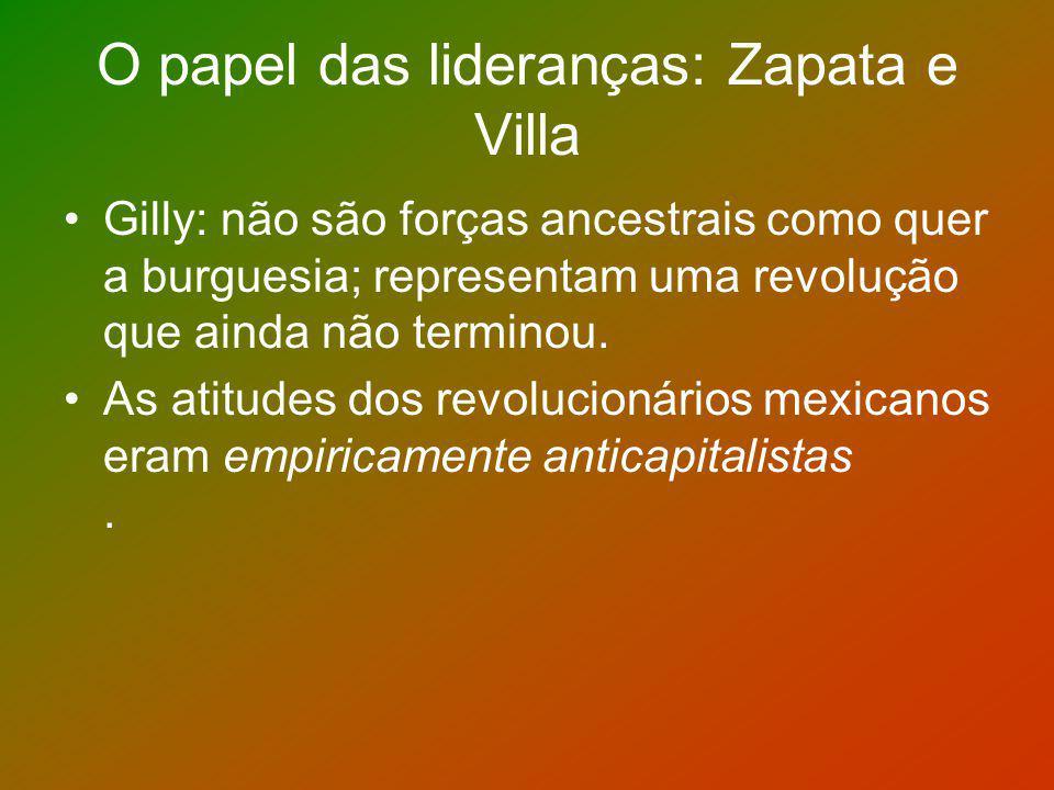 O papel das lideranças: Zapata e Villa