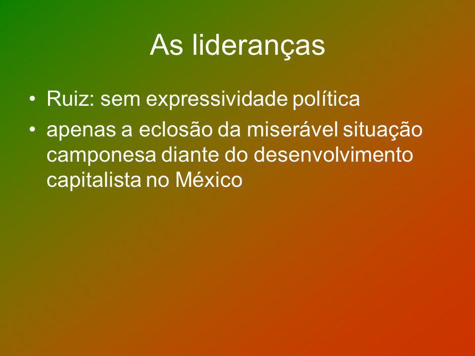 As lideranças Ruiz: sem expressividade política