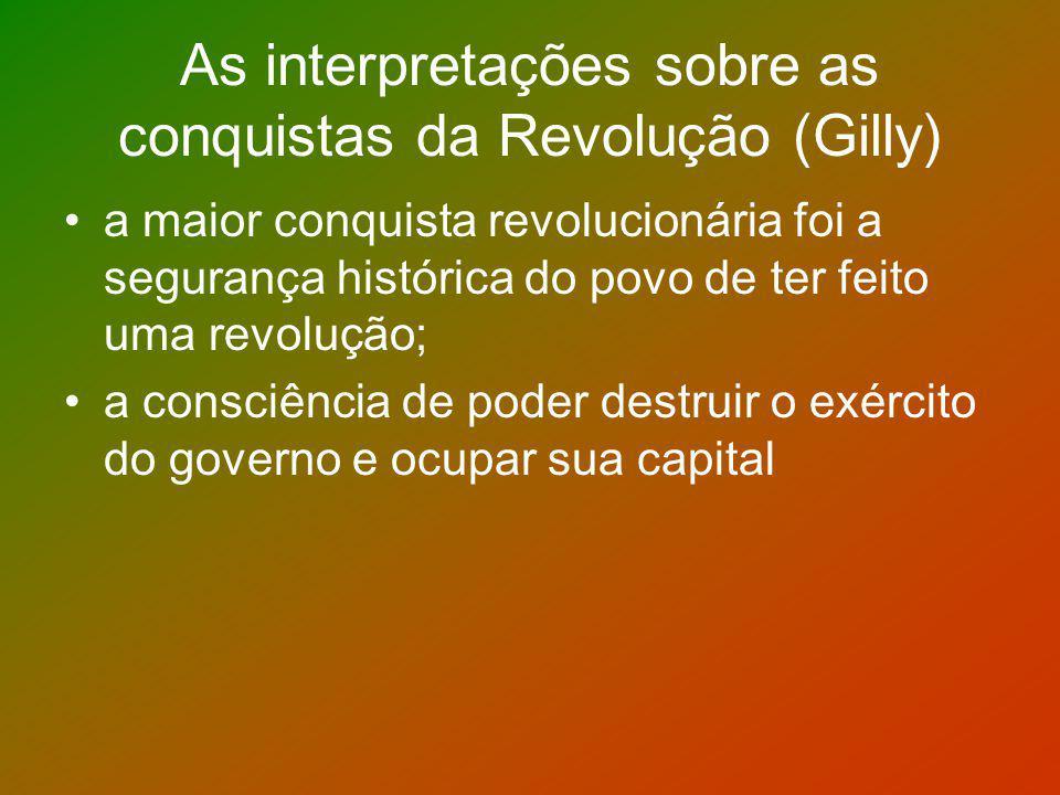 As interpretações sobre as conquistas da Revolução (Gilly)