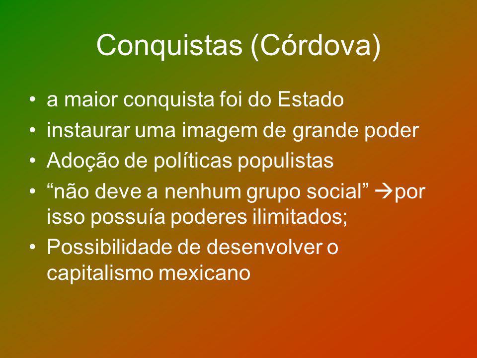 Conquistas (Córdova) a maior conquista foi do Estado
