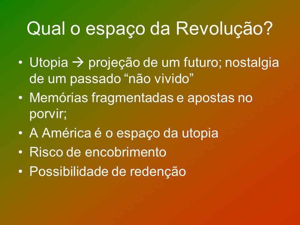 Qual o espaço da Revolução