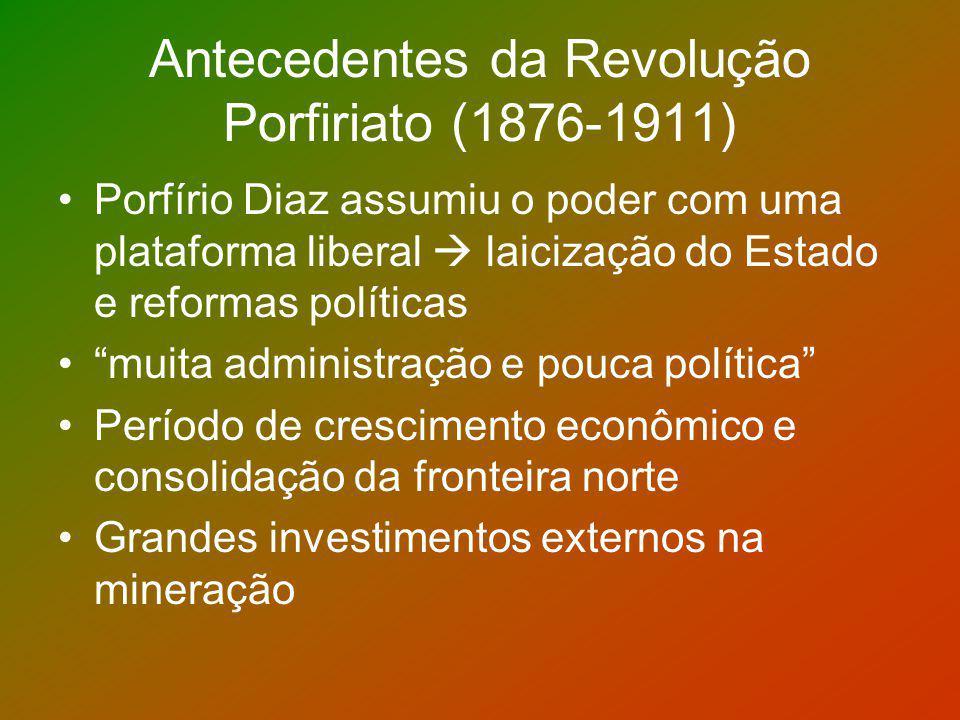 Antecedentes da Revolução Porfiriato (1876-1911)