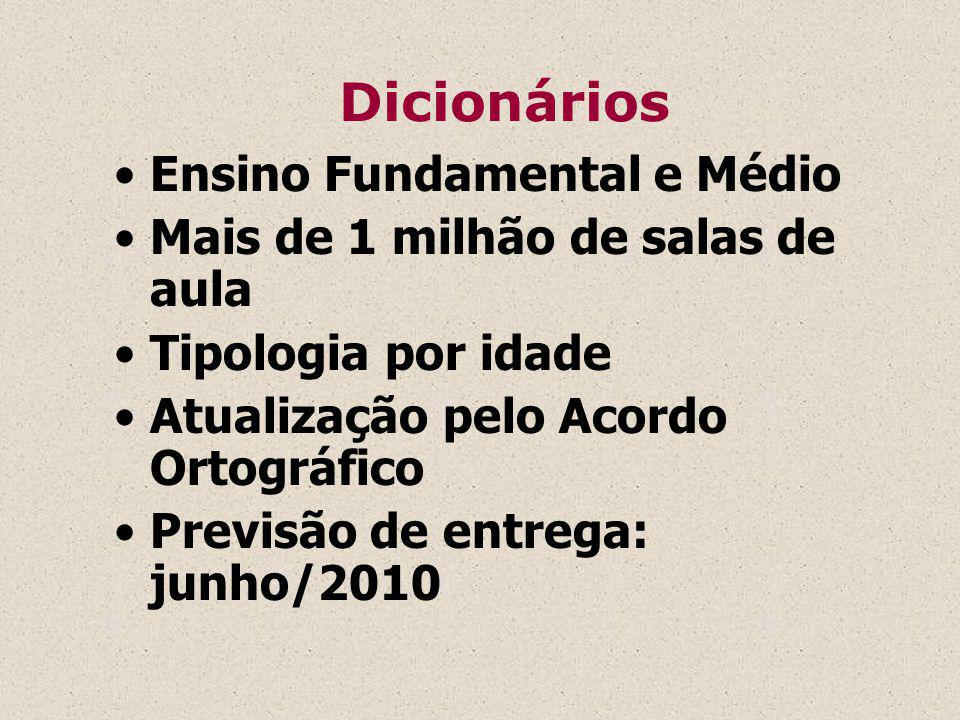 Dicionários Ensino Fundamental e Médio