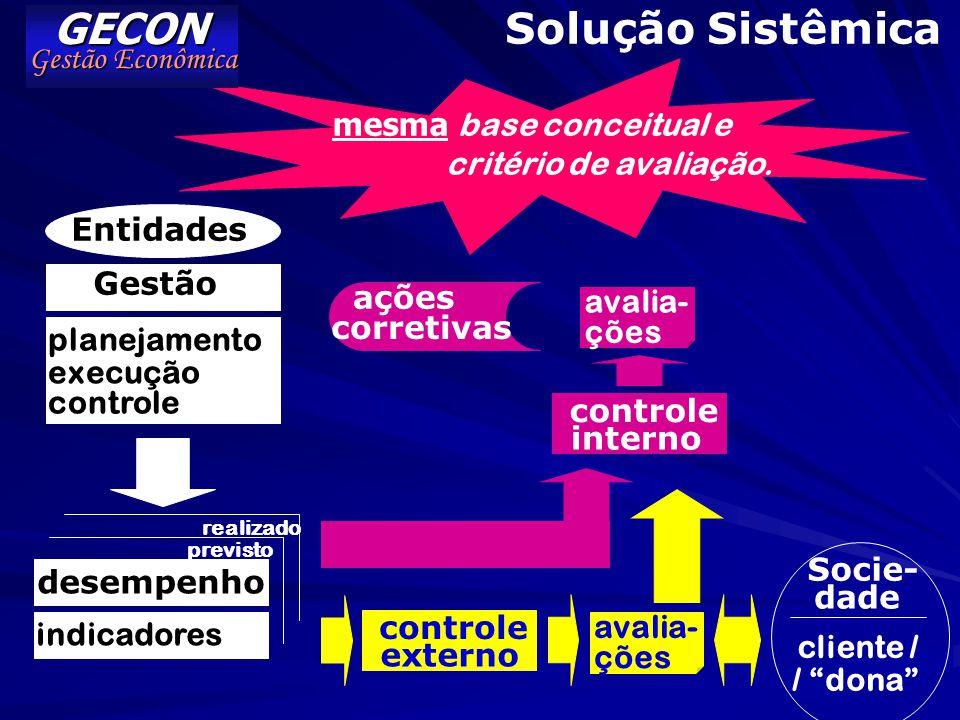 GECON Solução Sistêmica Gestão Econômica mesma base conceitual e