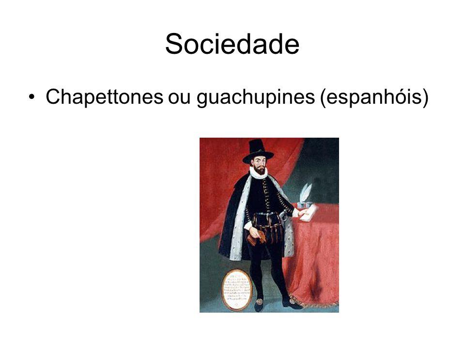Sociedade Chapettones ou guachupines (espanhóis)