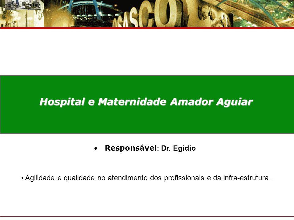Hospital e Maternidade Amador Aguiar Responsável: Dr. Egidio