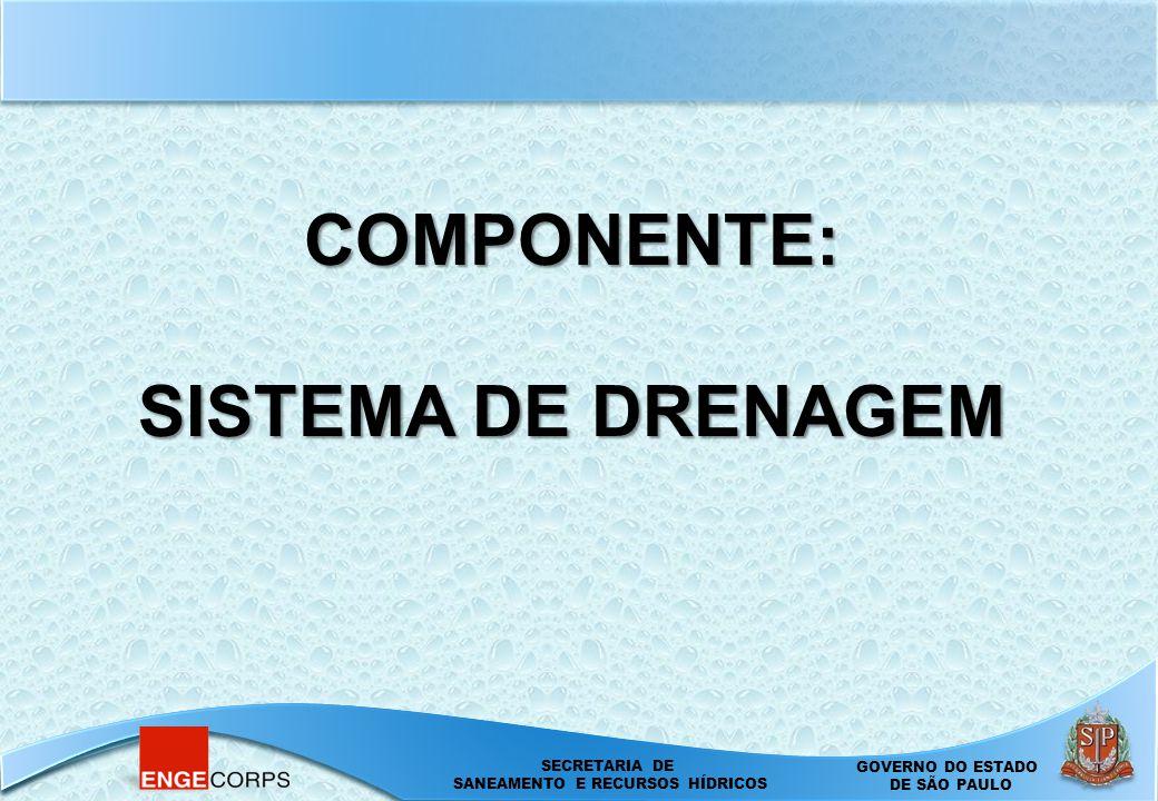 COMPONENTE: SISTEMA DE DRENAGEM