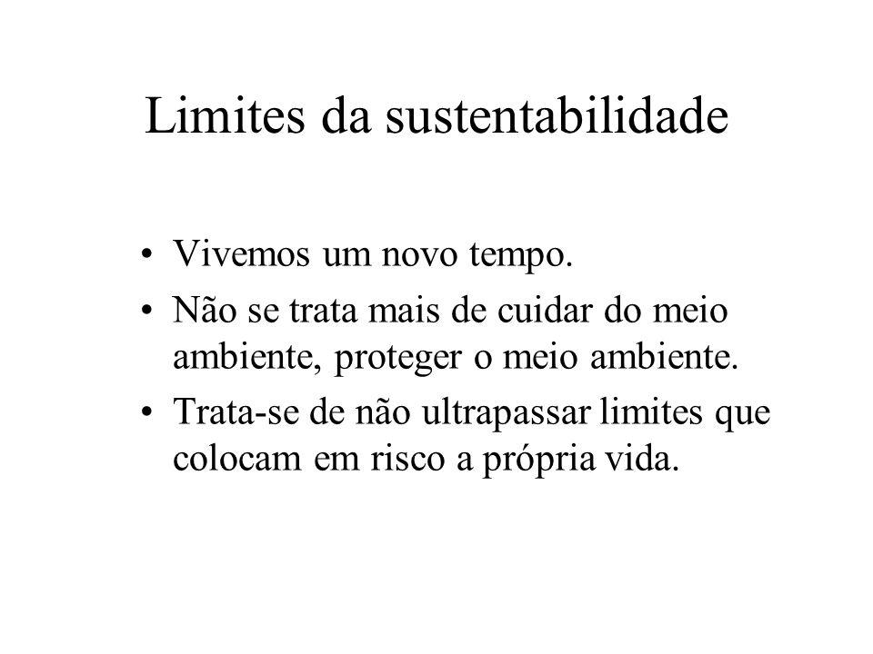 Limites da sustentabilidade