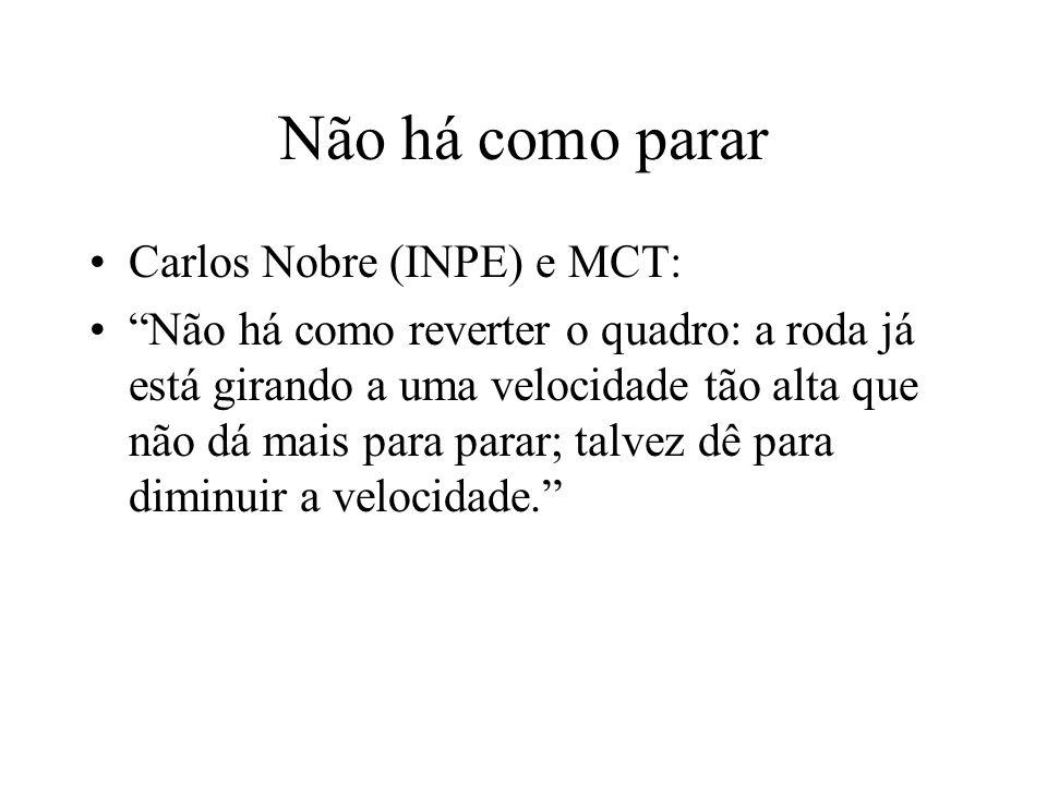 Não há como parar Carlos Nobre (INPE) e MCT: