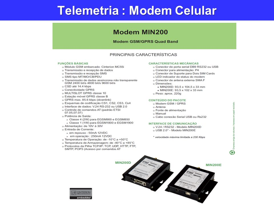 Telemetria : Modem Celular