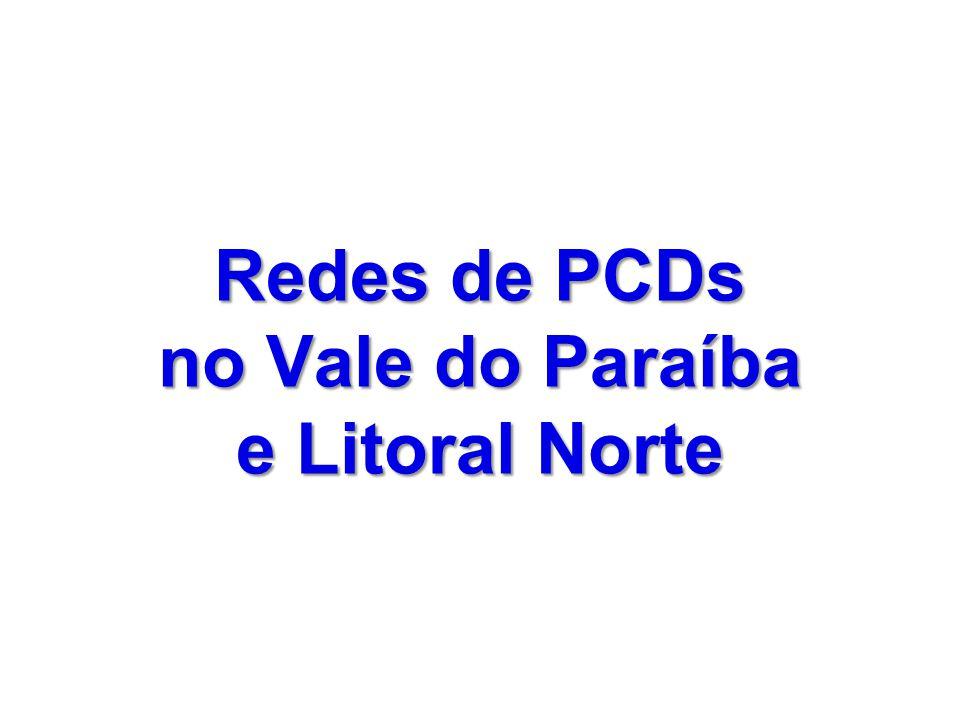 Redes de PCDs no Vale do Paraíba e Litoral Norte