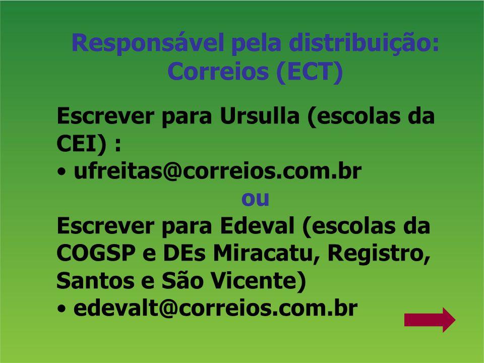 Responsável pela distribuição: Correios (ECT)