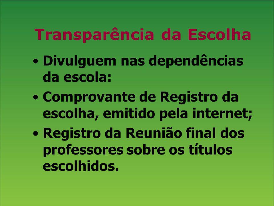 Transparência da Escolha