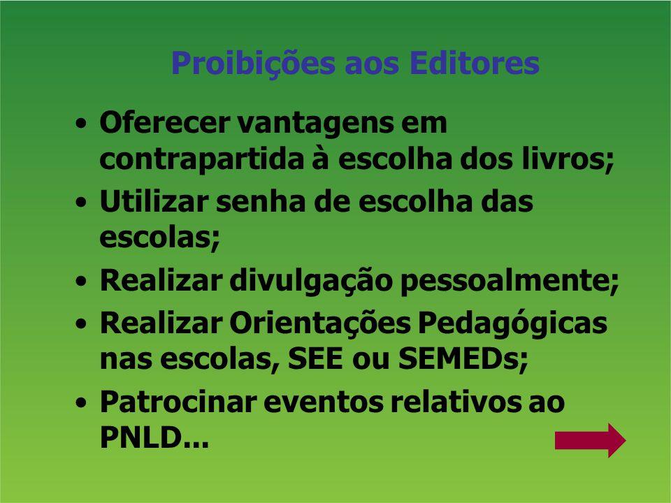 Proibições aos Editores