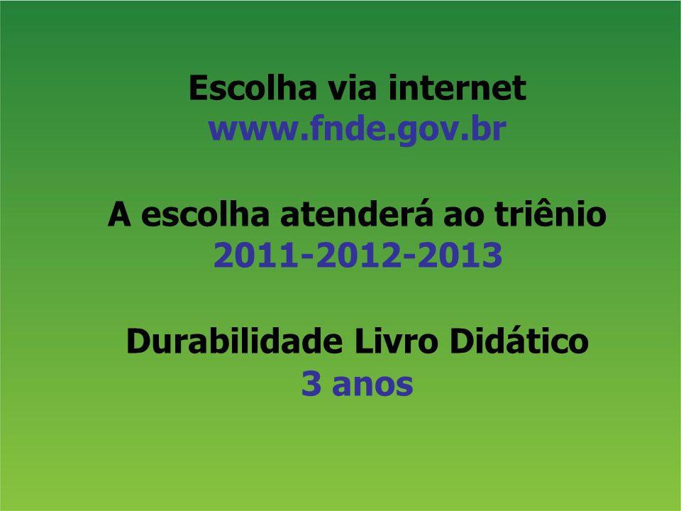 Escolha via internet www.fnde.gov.br