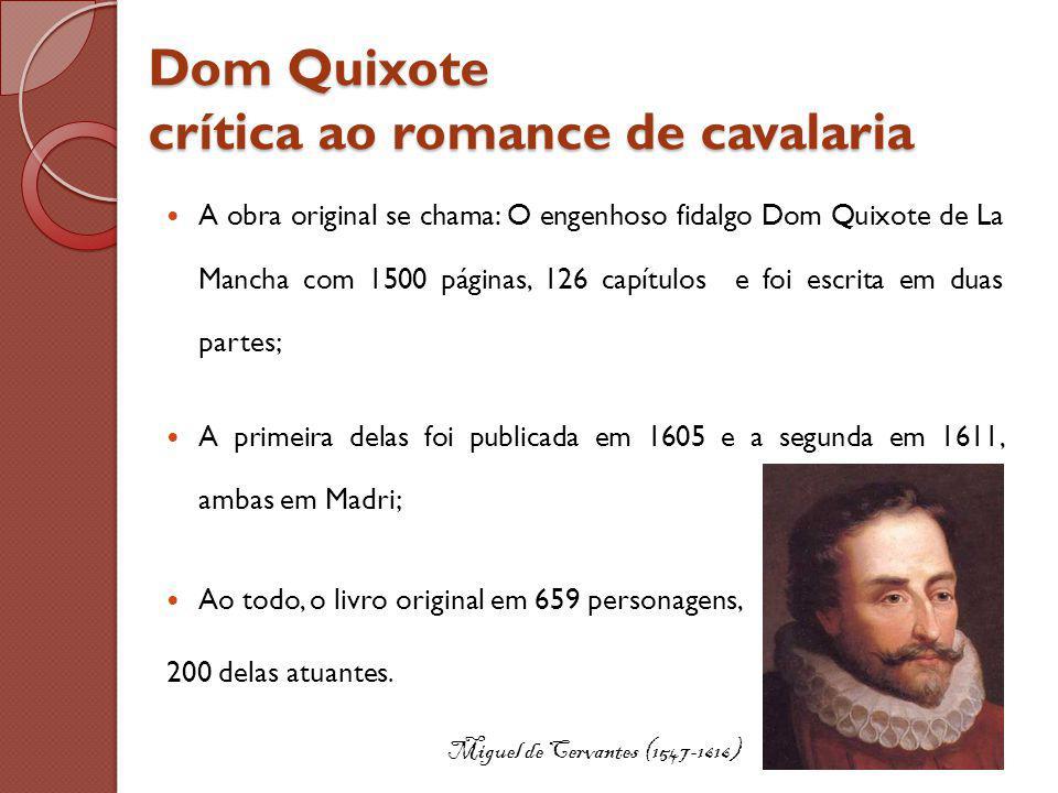 Dom Quixote crítica ao romance de cavalaria