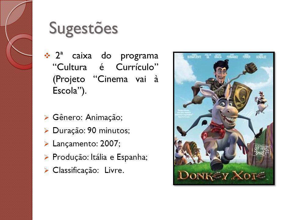 Sugestões 2ª caixa do programa Cultura é Currículo (Projeto Cinema vai à Escola ). Gênero: Animação;