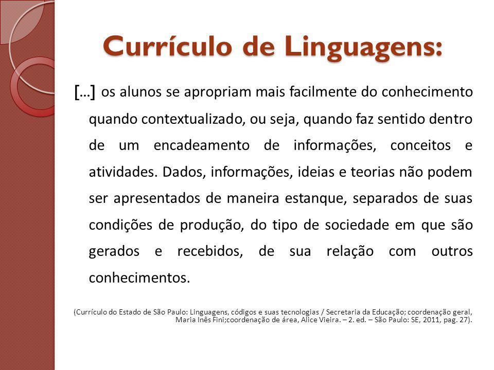 Currículo de Linguagens: