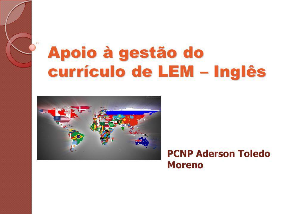 Apoio à gestão do currículo de LEM – Inglês