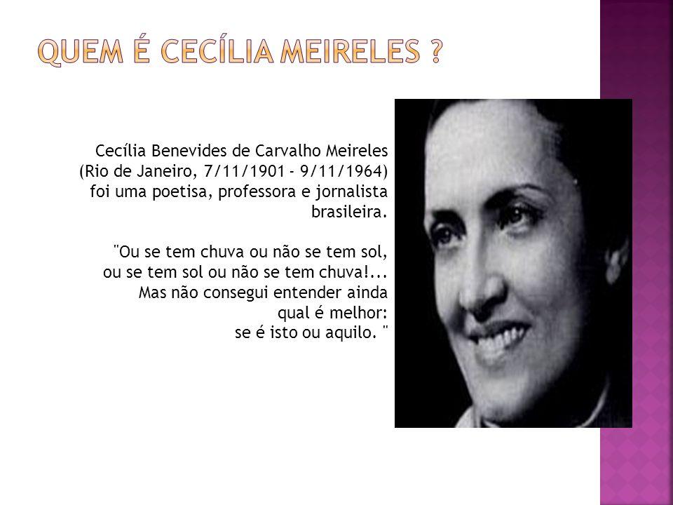 Quem é Cecília Meireles