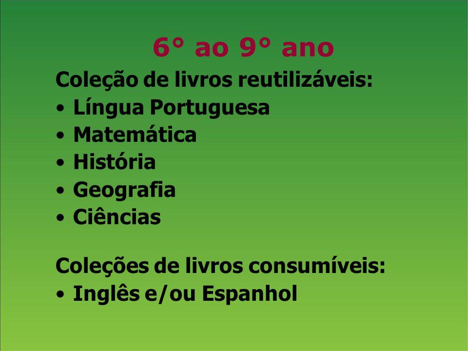 6° ao 9° ano Coleção de livros reutilizáveis: Língua Portuguesa