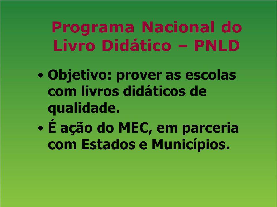 Programa Nacional do Livro Didático – PNLD