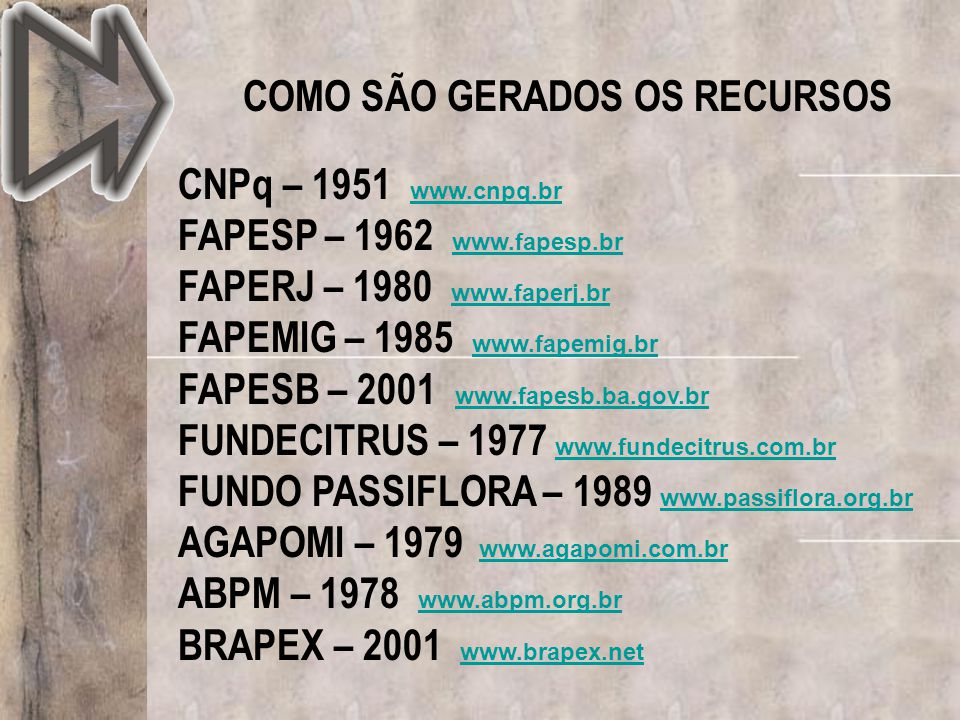 COMO SÃO GERADOS OS RECURSOS