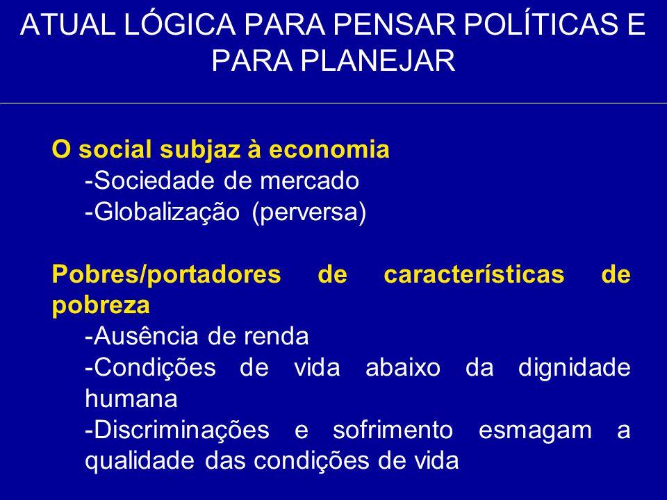 ATUAL LÓGICA PARA PENSAR POLÍTICAS E PARA PLANEJAR