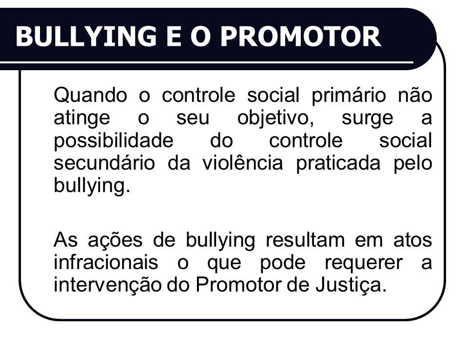 BULLYING E O PROMOTOR