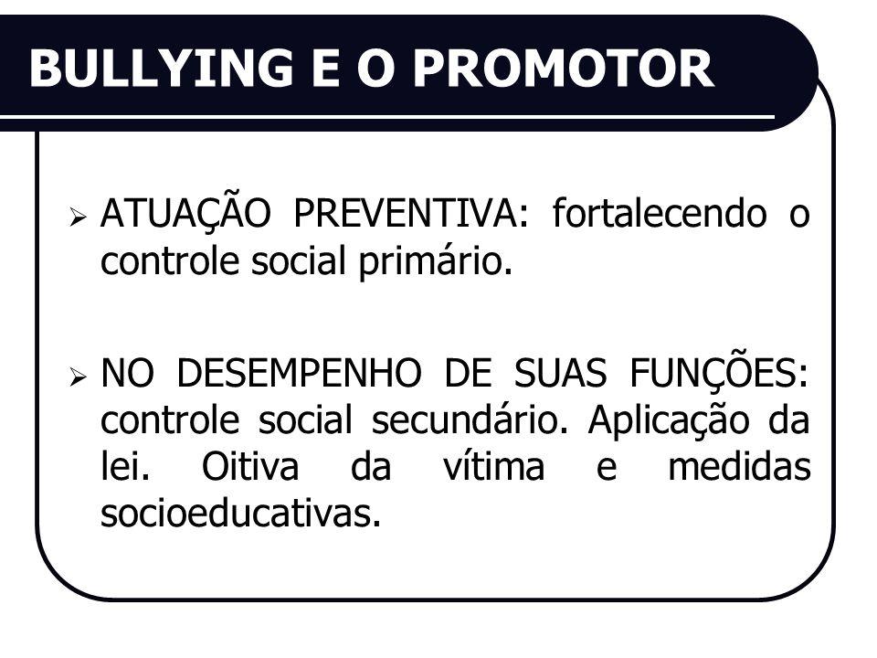 BULLYING E O PROMOTOR ATUAÇÃO PREVENTIVA: fortalecendo o controle social primário.