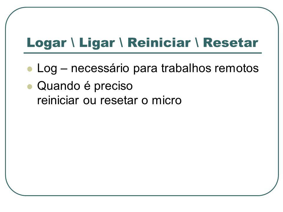 Logar \ Ligar \ Reiniciar \ Resetar