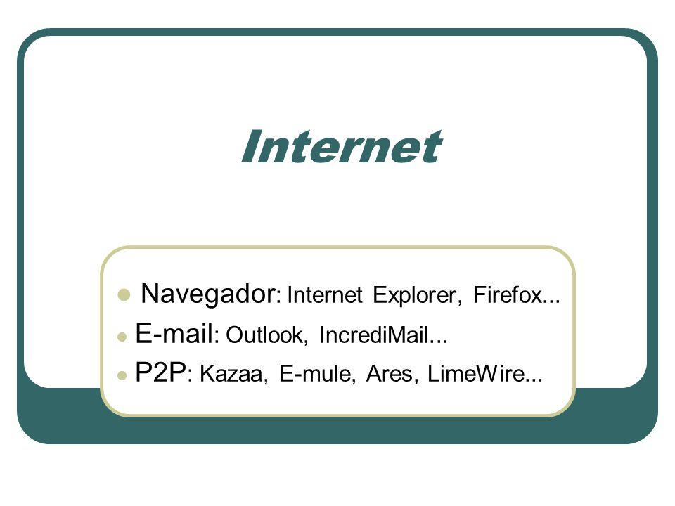 Internet Navegador: Internet Explorer, Firefox...