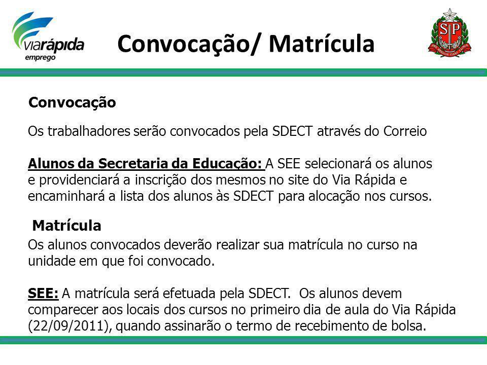 Convocação/ Matrícula