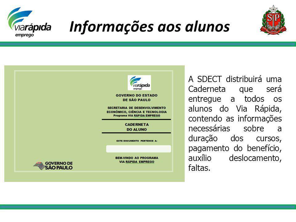Informações aos alunos