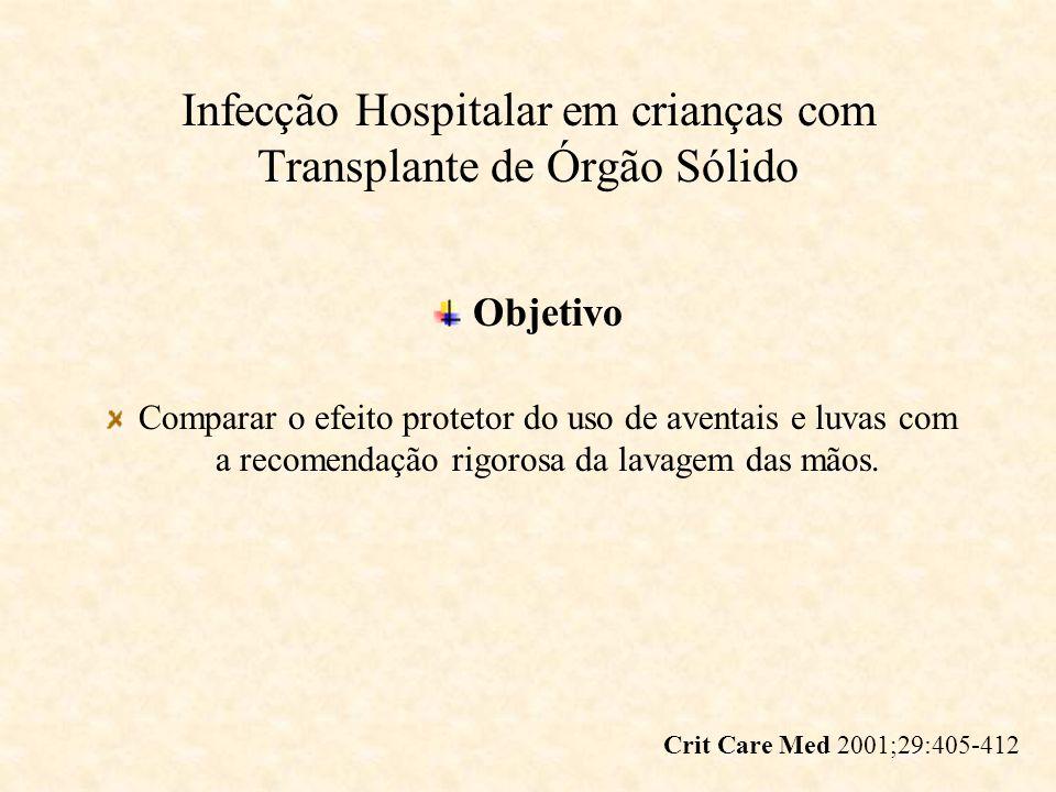 Infecção Hospitalar em crianças com Transplante de Órgão Sólido