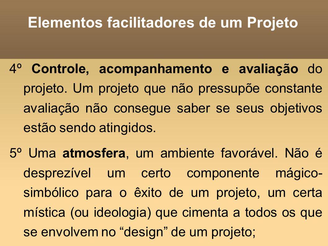 Elementos facilitadores de um Projeto