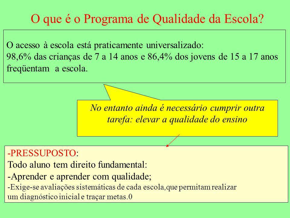 O que é o Programa de Qualidade da Escola