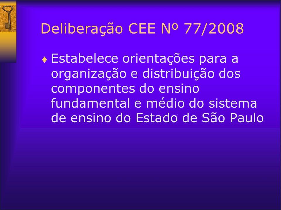 Deliberação CEE Nº 77/2008