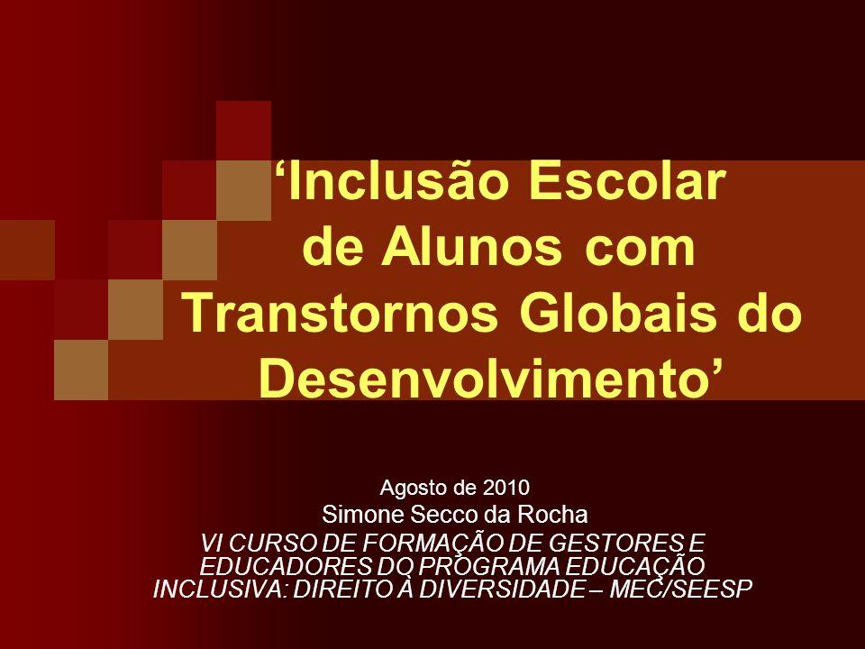 'Inclusão Escolar de Alunos com Transtornos Globais do Desenvolvimento'