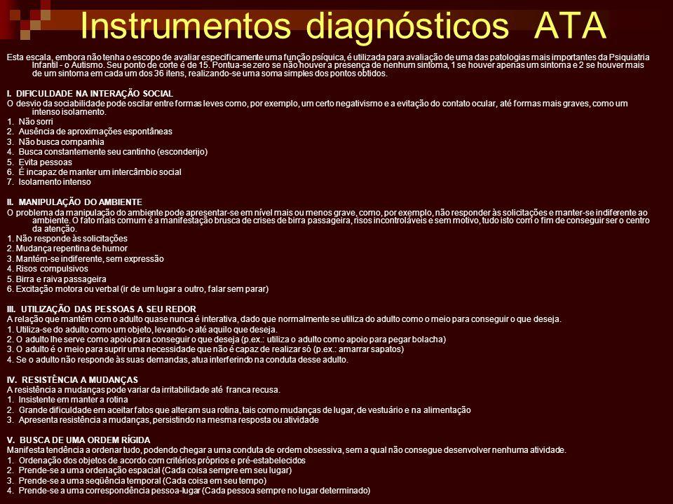 Instrumentos diagnósticos ATA
